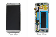 Genuine Samsung Galaxy S7 Edge G935 Silver LCD Screen & Digitizer Complete - GH9