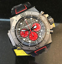 @NEW Invicta Men's 50mm Akula Quartz Chronograph Silicone Strap Watch 23107 Red