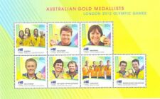 Australia-2012 Olympic Gold Medal Winners-special sheet-mnh