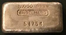 Engelhard 5 oz 6th Ser. Vintage Silver Bar s/n 54754 Beautiful Example! RARE!!!