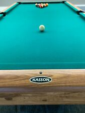 New listing Beautiful 8' Kasson Billiard Pool Table With 4 Bonus Cues and table tennis top