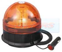 12V / 24V MAGNETIC MAG MOUNT LED FLASHING AMBER / ORANGE RECOVERY WARNING BEACON