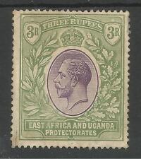 K.U.T.EAST AFRICA & UGANDA PROTECTORATES SG73 1921 3r VIOLET GREEN MINT C.£150