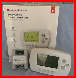 """Honeywell RTH6580WF WiFi SMART Thermostat with Add a """"C"""" Wire Module"""