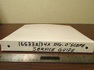 HP 16533A and 16534A Digital Oscilloscope Service Guide In Binder