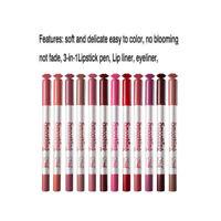 12 Pieces Waterproof Lipstick Lip Liner Pen Long Matte Lipliner Pencil Kit
