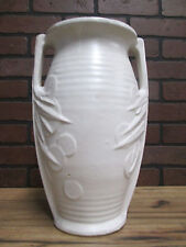 "Vintage Antique McCOY Pottery Rare Matte Cream Ivory 14"" tall Sand Dollar Vase B"