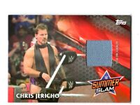 WWE Chris Jericho 2017 Topps SummerSlam Mat Relic Card SN 158 of 199