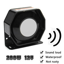 12V 200W 12 Sound Universal Car Horn Loud Speaker Emergency Alarm Siren System