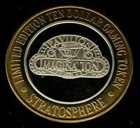 .999 $10 Stratosphere Casino Silver Strike • Pavillon of Imagination• Las Vegas