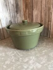 """Reduced! Longaberger Pottery Round Covered Casserole - Sage. 7 """"  Diameter"""
