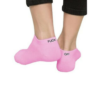 """New Unisexy Short """"fuck-Off"""" Ankle Socks Funny Low Cut Cotton Socks Casual Sport"""