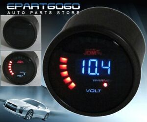 "2"" 52mm JDM Voltage Volt Blue Digital Led Auto Gauge Meter Vw Golf Jetta Gti"