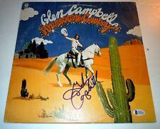 GLEN CAMPBELL~Rhinestone Cowboy~Signed Album~Excellent~Beckett Certified~COA