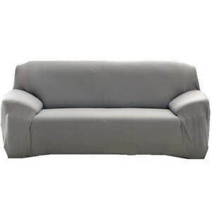 1 2 3 Seater Stretch Sofa Cover Slipcover Couch Covers Elastic Protector Grey