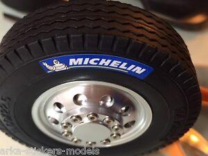 MICHELIN tyre sticker set (colour/black) 6x for Tamiya 1/14 truck trailer ENERGY