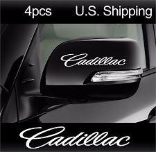 4 CADILLAC sticker decals Door handle Wheels mirror Aufkleber Sport CTS WHITE