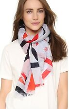 NWT Tory Burch 'Exploded Fret' Oblong Wool Scarf Color: Lavender
