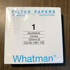 Qualitative Fltr Paper,12.5cm,CFP1,PK100 WHATMAN 1001-125