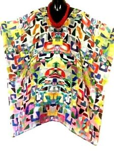 100% Silk Kaftan / Vibrant Pattern /  Plus / Very light & Cool /  RR$149