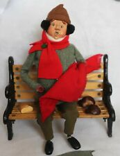 Byers Choice Man Sitting On Bench The Carolers 1997 Christmas