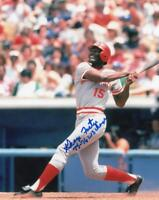 GEORGE FOSTER CINCINNATI REDS SIGNED AUTOGRAPHED 8X10 PHOTO W/COA