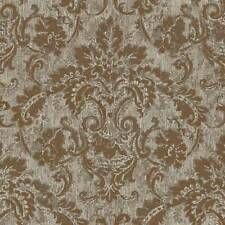 Wallpaper New Designer Traditional Faux Antique French Style Gold Damask