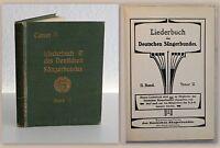 Liederbuch des Deutschen Sängerbundes II. Band Tenor II um 1920 Musik xz
