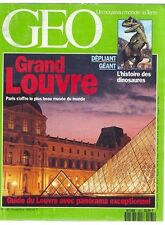 geo  magazine 165 - le grand louvre -- histoire des dinosaures -