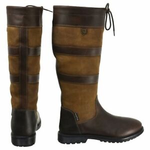 NEW HyLAND Bakewell Long Country Boots UK 4 EURO 37 Dark Brown