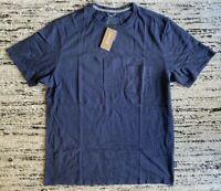 Patagonia Mens Squeaky Clean Pocket Tee Shirt Navy Blue M L XL Organic Cotton