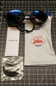 Julbo Sunglasses~Sherpa Glacier Mountain Sunglasses~Spectron Lens~Black Blue~NEW