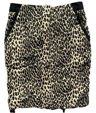The Limited Outback Red Leopard Print Skirt Womens Size 2 Slit Career Pencil