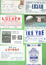 #D66. EIGHT QSL RADIO CONTACT CARDS