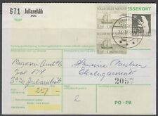 Greenland 1978. Domestic C.O.D. parcel card for 2 kg parcel. COD kr. 251,-.