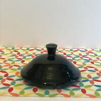 Fiestaware Black 2 Cup Teapot Lid Fiesta Retired Small Replacement LID ONLY