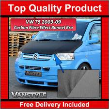 VW T5 TRANSPORTER 2003-09 FULL BONNET BRA QUALITY PROTECTOR COVER CARBON EFFECT