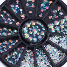 HOT Rhinestones Chameleon Flatback Manicure 3D Nail Art Decoration DIY Clear