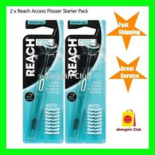 Listerine Reach Access Daily Flosser Starter Pack Twin Pack eBC