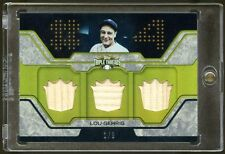 LOU GEHRIG 2008 TOPPS GOLD 1/9 TRIPLE GAME USED BAT   BEAUTIFUL YANKEES ICON