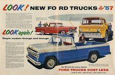 1957 Ford Trucks F100 Styleside - Ranchero - Tilt cab Print Ad