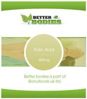 Folic Acid Tablets 400mcg Vitamin B-9 One A Day Folacin Made In UK