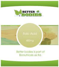 ACIDO folico Compresse 400mcg Vitamina B-9 uno al giorno acido folico Made in UK