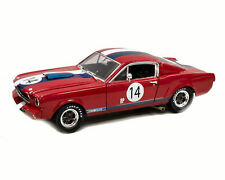 FORD MUSTANG GT350R #14 1965 1966 SHELBY COLLECTIBLES 1/18 RED WHITE BLUE
