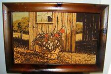 Original R. Batchelder Paintings - 2 Signed Framed Flower & Barn Scenes