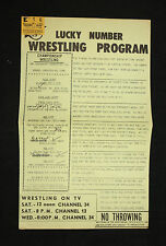 Lucky Number Wrestling Program - Scored with Ticket Stub - 12/29/1974