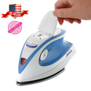 Travel Iron Compact Portable Steam NonStick  Heat Setting Dual Voltage 240/120 V