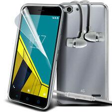 Ultra Sottile Trasparente Custodia Cover In Gel & Vivavoce per Vodafone Smart 6