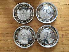 4 echte Radkappen Chrom für Mercedes Benz /8 W108 W116 W123 W126 W114 W115 R107