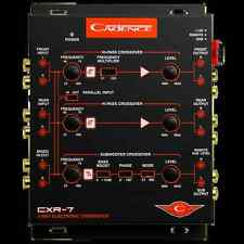 NEW CADENCE CXR-7 3-WAY ELECTRONIC CROSSOVER 7-VOLT LINE DRIVER for AMPLIFIERS